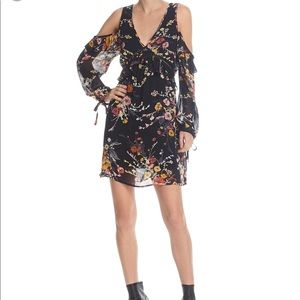 BAND OF GYPSIES Cold Shoulder Floral Dress S New